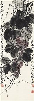 乌子藤图 (litchi chinensis) by qi baishi