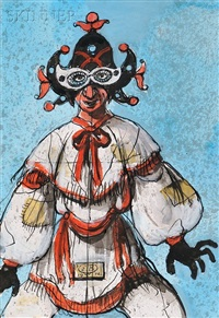 costume design for pulcinella by eugene berman