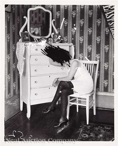 untitled storyville woman seated by dresser effaced by ej bellocq