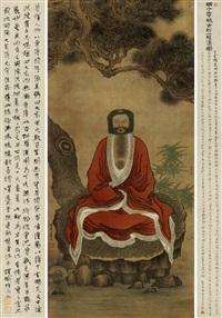 古松罗汉图 by ding yunpeng