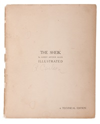 the sheik (portfolio of 8) by albert arthur allen