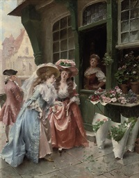 at the florist by henri victor lesur