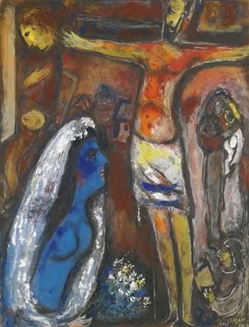 LA CRUCIFIXION OR LA MARIÉE EN BLEU by Marc Chagall on artnet