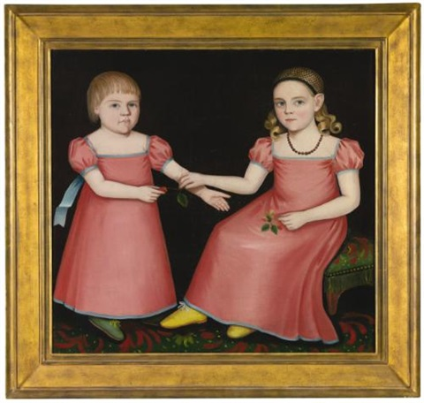 mary jane soggs and her brother henry of woodstock new york by ammi phillips