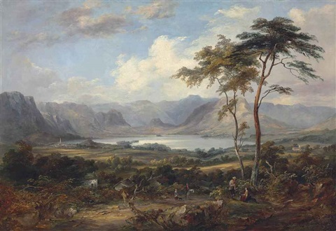 a mountainous lake landscape traditionally identified as coniston water by jane nasmyth