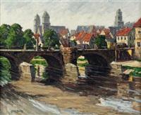 alte elsterbrücke in plauen by paul lehmann-brauns