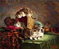 zes spelende katjes by cornelis raaphorst
