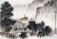 龙潭雨 镜心 纸本 by qian songyan