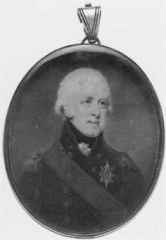 a naval officer, in uniform, wearing the order of the bath and red bath ribbon by edward miles