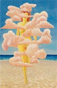woman among clouds by vilhelm bjerke-petersen