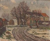paisagem com casario e arvoredo by adolphe léon willette