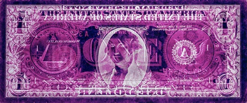 negative currency one dollar bill used as negative by david lachapelle