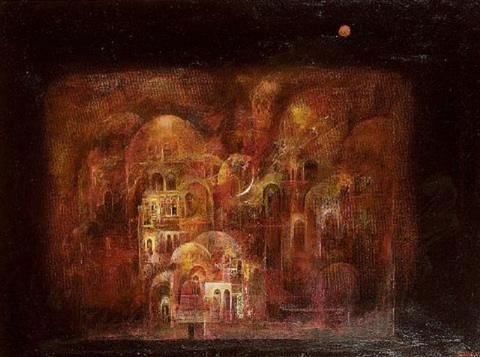 moon on the ancient city by suad al attar