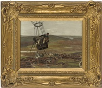 a french sailor in a captive balloon by louis raoul arus
