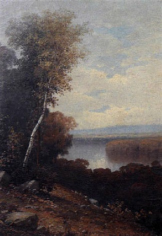 a missouri river landscape by george ernest colby