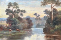 cattle watering by william short sr.