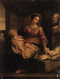 the holy family by jacob andries beschey
