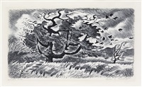 autumn wind by charles ephraim burchfield