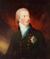 hertig william fredrik av gloucester (1776-1834) klädd i uniform, vit halsduk samt strumpebandsordern - bröstbild by carl fredrik van breda