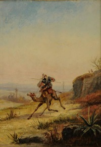 cavalier au chameau by e. huber