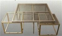 couchtisch (+ 4 untertischen, smllr; 5 works) by highline furniture
