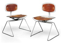 beauborg chairs (pair) by michel cadestin and georges laurent