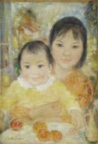 frère et soeur (brother and sister) by le thi luu