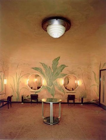 radio city music hall, ladies room by evelyn hofer