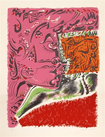 untitled visage by andré masson