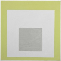 homage to the square: white monument by josef albers