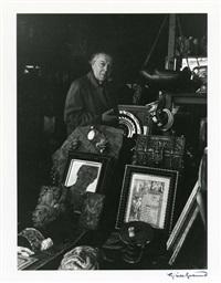 portraits d'écrivains : léon-paul fargue, james joyce, rue de l'odéon (2), andré breton, henri michaux, walter benjamin (6 works) by gisèle freund