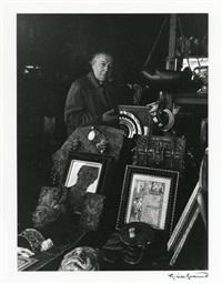 portraits d'écrivains: léon-paul fargue, james joyce, rue de l'odéon (2), andré breton, henri michaux, walter benjamin, 6 by gisèle freund