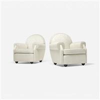 club chairs (pair) by vittorio valabrega