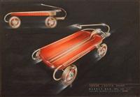 tubular coaster wagon by viktor schreckengost