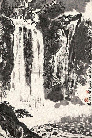 瀑布 by wenda gu