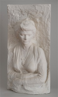 portrait of suzy ebam (2 works) by george segal