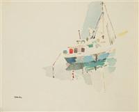 bateau au port by amine el bacha