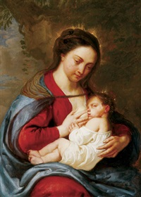 the nursing madonna by erasmus quellin