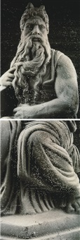 grey moses (in 2 parts) by andres serrano