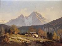bauernhof in der bayerischen ramsau by hans sengthaler