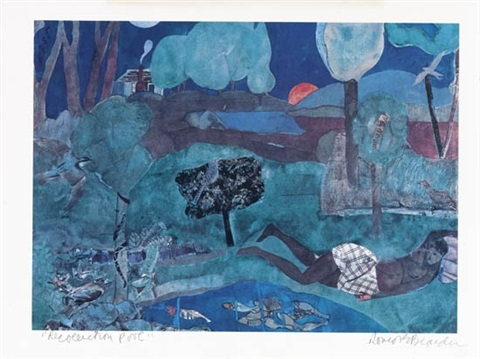 recollection pool by romare bearden