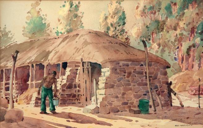 worker in the farmyard by nils severin andersen