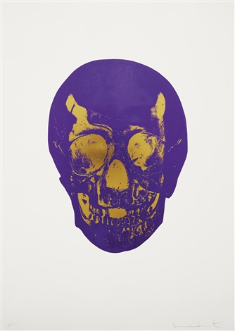 imperial purpleoriental gold skull from the dead portfolio by damien hirst