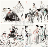 西部风情 (4 works; various sizes) by xu hengyu