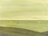 coastal landscape by leon dabo