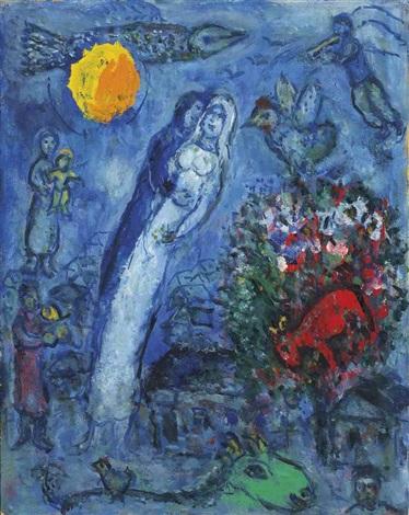 Fête nocturne pour les mariés by Marc Chagall on artnet