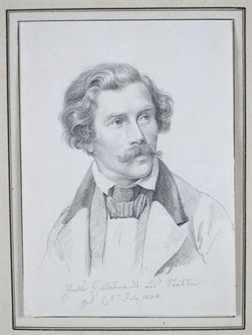 portrait des historienmalers theodor hildebrandt by carl ferdinand sohn