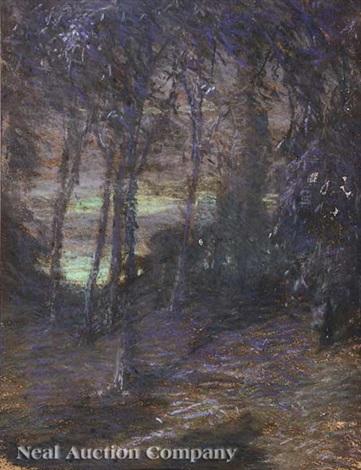 symbolist landscape twilight by charles salis kaelin