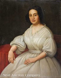 portrait of a creole woman in white by jacques guillaume lucien amans