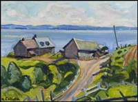near cap-à-l'aigle, pq, st. lawrence river by nora frances elisabeth collyer